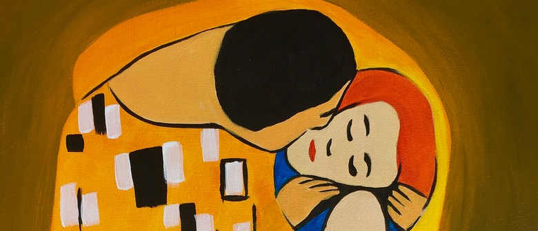 Paint and Wine Night - The Kiss