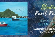 Paint Your Own Island Bay with Heart for Art NZ