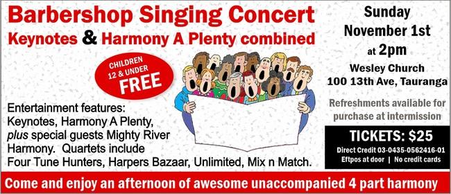 Barbershop Singing Concert
