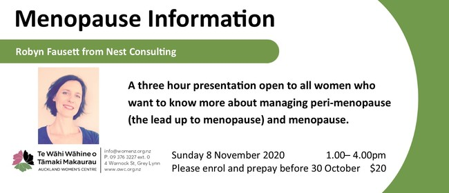 Menopause Information Session