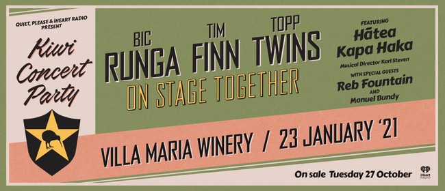 Kiwi Concert Party - Runga, Finn & The Twins
