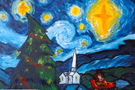 Paint and Wine Night - A Starry Christmas Night