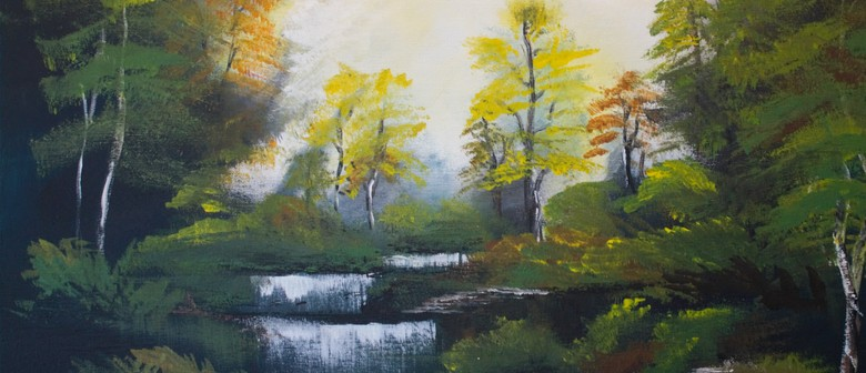 Paint and Wine Night - Bob Ross Autumn Forest