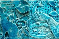 Magical Blue - Green Clay Tile Class