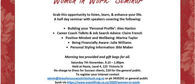 'Women in Work' Seminar