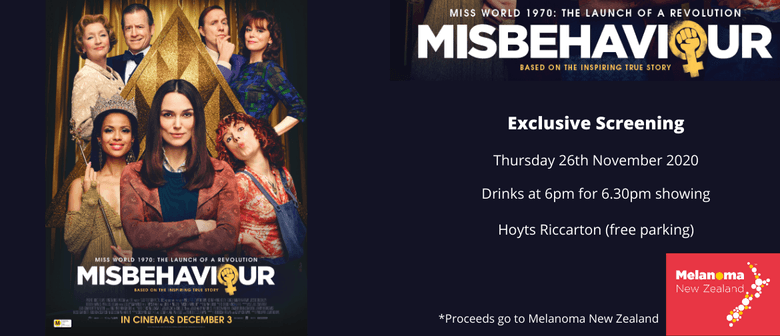 Misbehaviour Exclusive Screening - An Evening of Fun & Film: CANCELLED