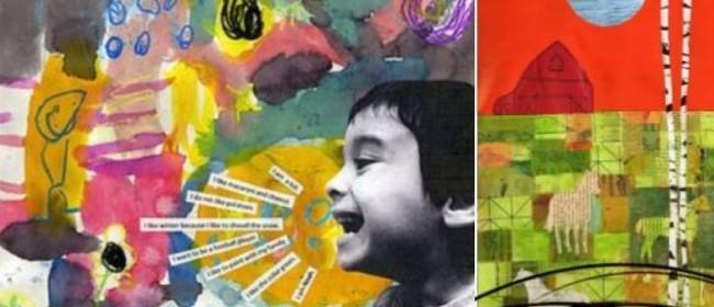 Kids Creative Art using Mixed Media