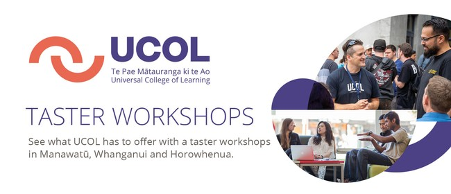 UCOL Taster Workshop Manawatu