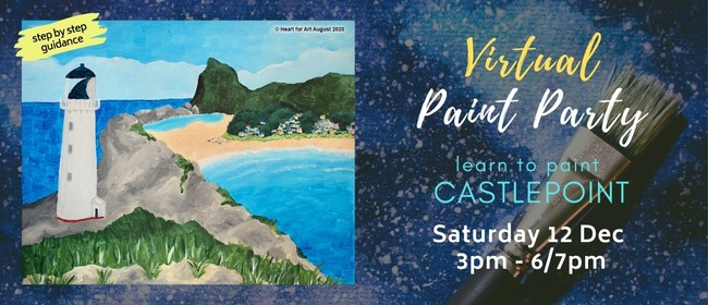 Paint your own Castlepoint with Heart for Art NZ