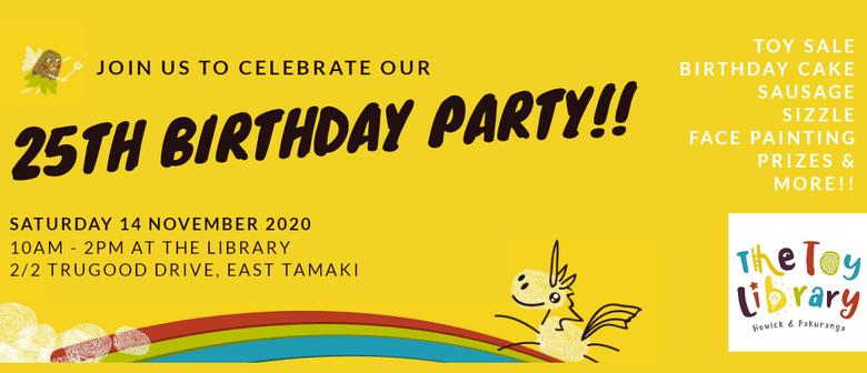 Howick and Pakuranga Toy Library 25th Birthday Party