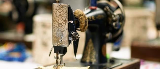Vintage Hand-Crank Sewing Workshop