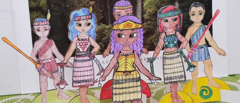 Hine & Tama Paper Dolls with Oriwa