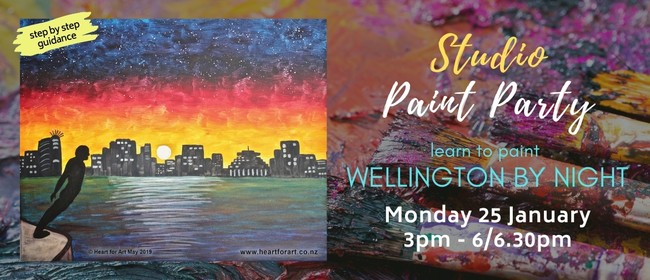 Paint Your Own Wellington by Night with Heart for Art NZ