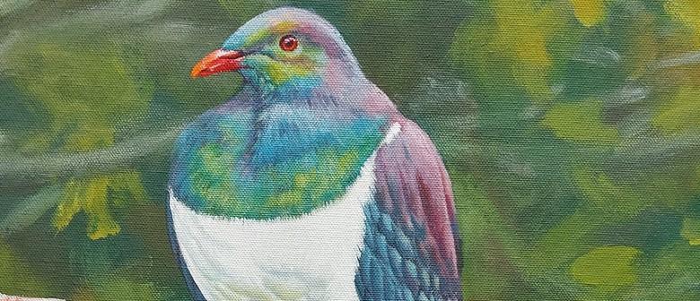 Acrylic Painting - Kereru - NZ Wood Pigeon