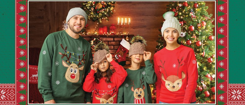 Ugly Sweater Christmas Family Photo