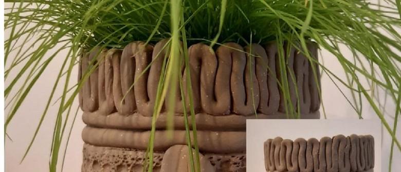 January School Holiday Art - Clay Textured Plant Pots