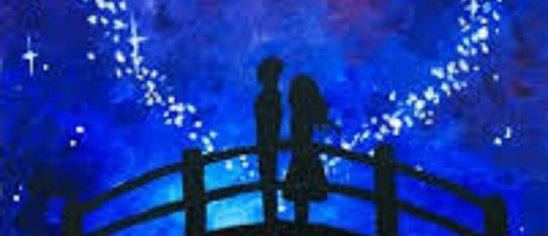 Wine and Paint Party - Valentine's Day Special Painting