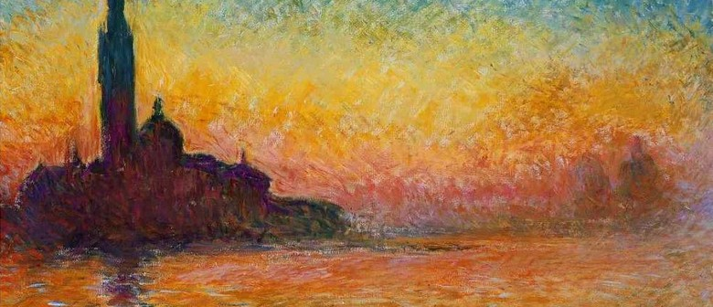 Wine and Paint Party - Monet's Sunset In Venice Painting