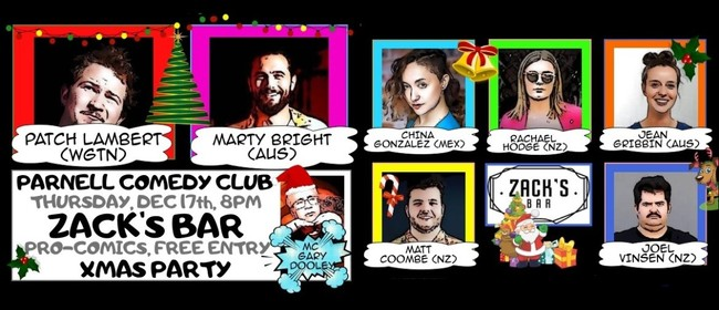 Parnell Comedy Club Pro Comedy Christmas Extravaganza