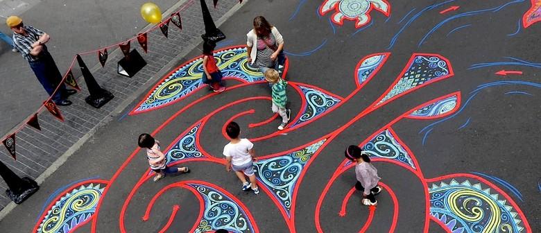 Turtle Labyrinth | Tape Art NZ