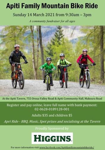 Apiti Family Mountain Bike Ride