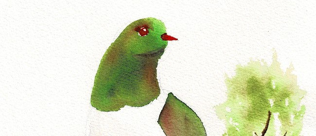Watercolour Night -Kereru