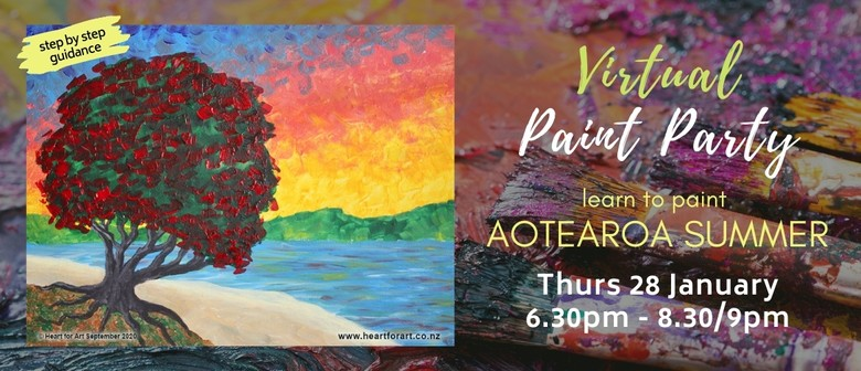Paint your own Aotearoa Summer - Virtual Paint Party