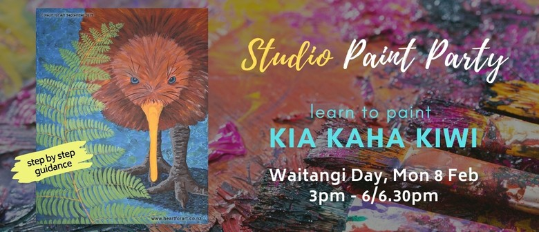 Paint your own KIWI with Heart for Art NZ