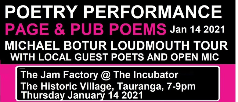 Off-The-Page Poetry - Michael Botur 'Loudmouth' tour