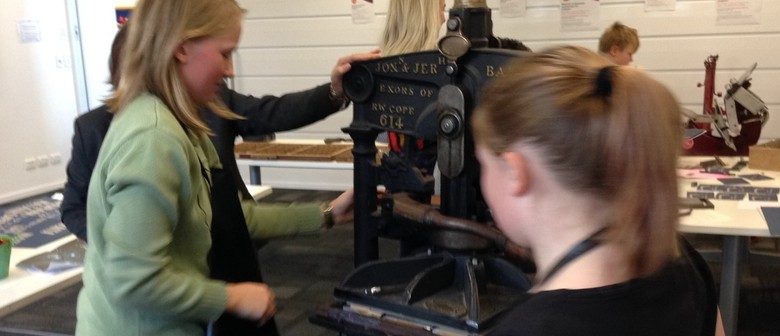 Printing Press found object workshop