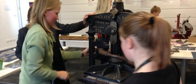 Printing Press found object workshop