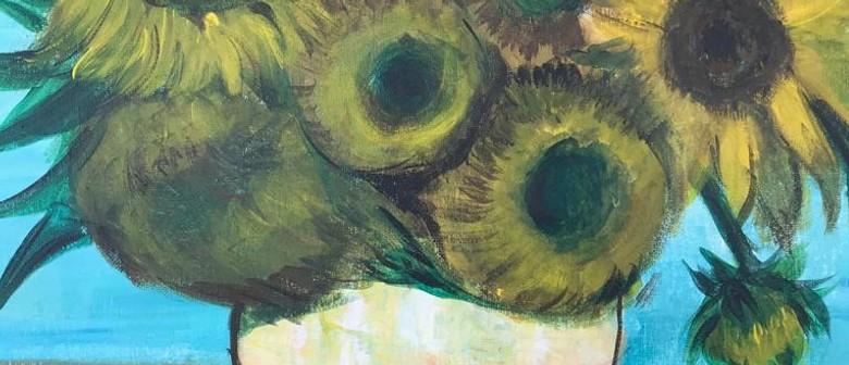 Paint & Chill Saturday Night - Van Gogh Sunflower!