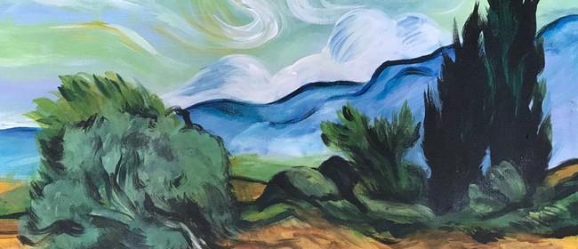 Paint & Chill Saturday Night - Van Gogh Wheatfield
