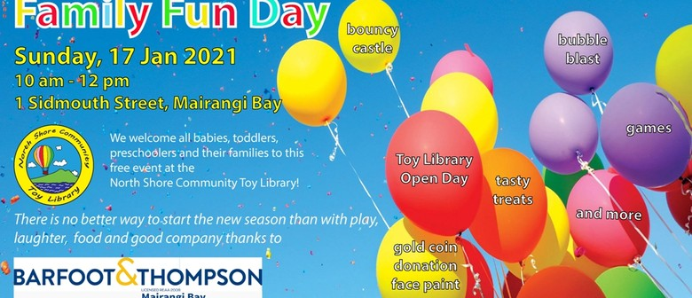 Free Family Fun Day for Toddlers and Pre-Schoolers