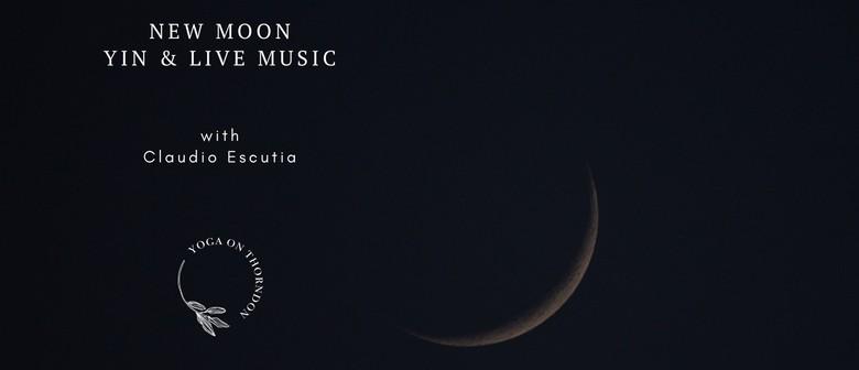New Moon Yin & Live Music with Claudio Escutia