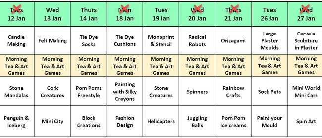 Art Classes - January Holiday 2021 - Creative Kids Art Lab