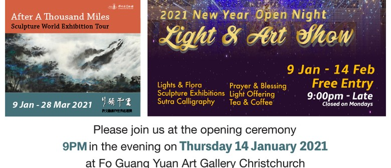 Sculpture Exhibition and 2021 Light & Art Show opening