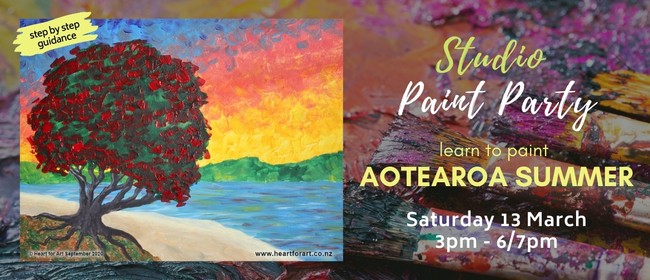 Paint Your Own Aotearoa Summer With Heart for Art NZ