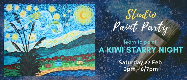 Paint your own Kiwi Starry Night with Heart for Art NZ