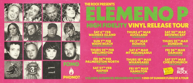 Elemeno P - High Fidelity Vinyl Release Tour: CANCELLED