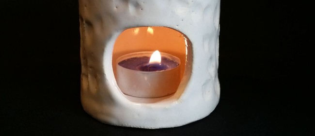 Tea Light Holder - 1-Day Workshop w Siriporn Falcon-Grey