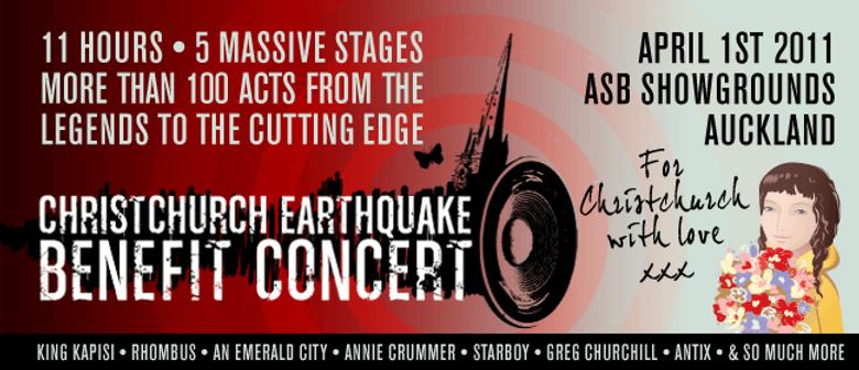 Christchurch Earthquake Benefit Concert: CANCELLED