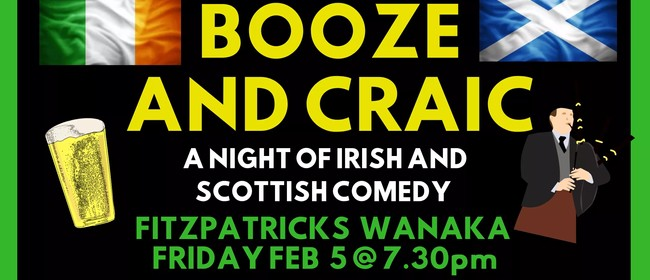 Booze and Craic - A Night of Irish and Scottish Comedy