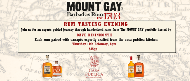 Mount Gay Rum Tasting: CANCELLED