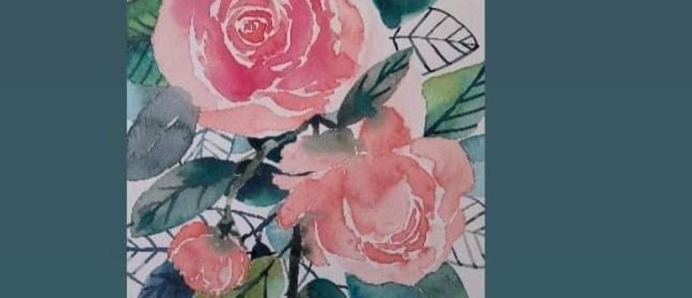 Vino & Watercolour Florals with Sarah Higgins