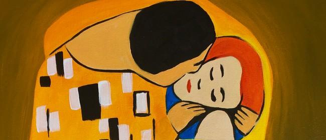 Paint & Wine Night - The Kiss - Paintvine