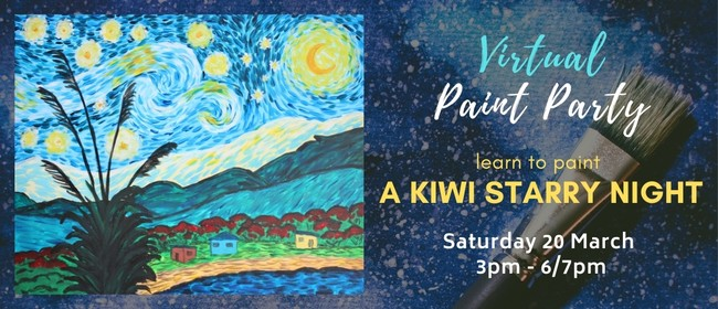Paint Your Own Kiwi Starry Night