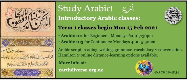 Study Arabic with EarthDiverse in 2021