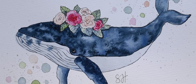 """Watercolour a """"Whale"""" with Sarah Higgins"""