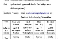 Active Learning Chinese Class